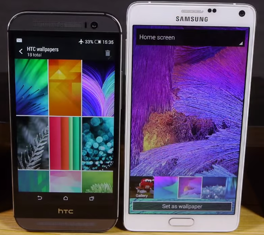 Smartphone HTC One M8 VS Samsung Galaxy Note 4