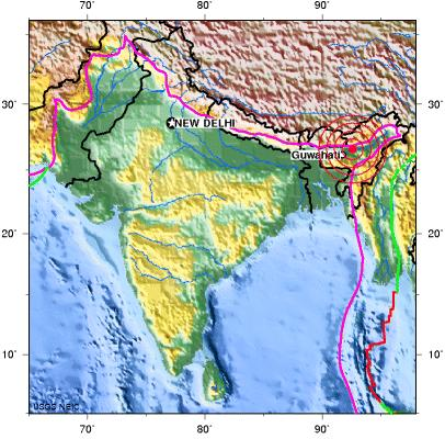 ASSAM, INDIA earthquake 2012 August 19