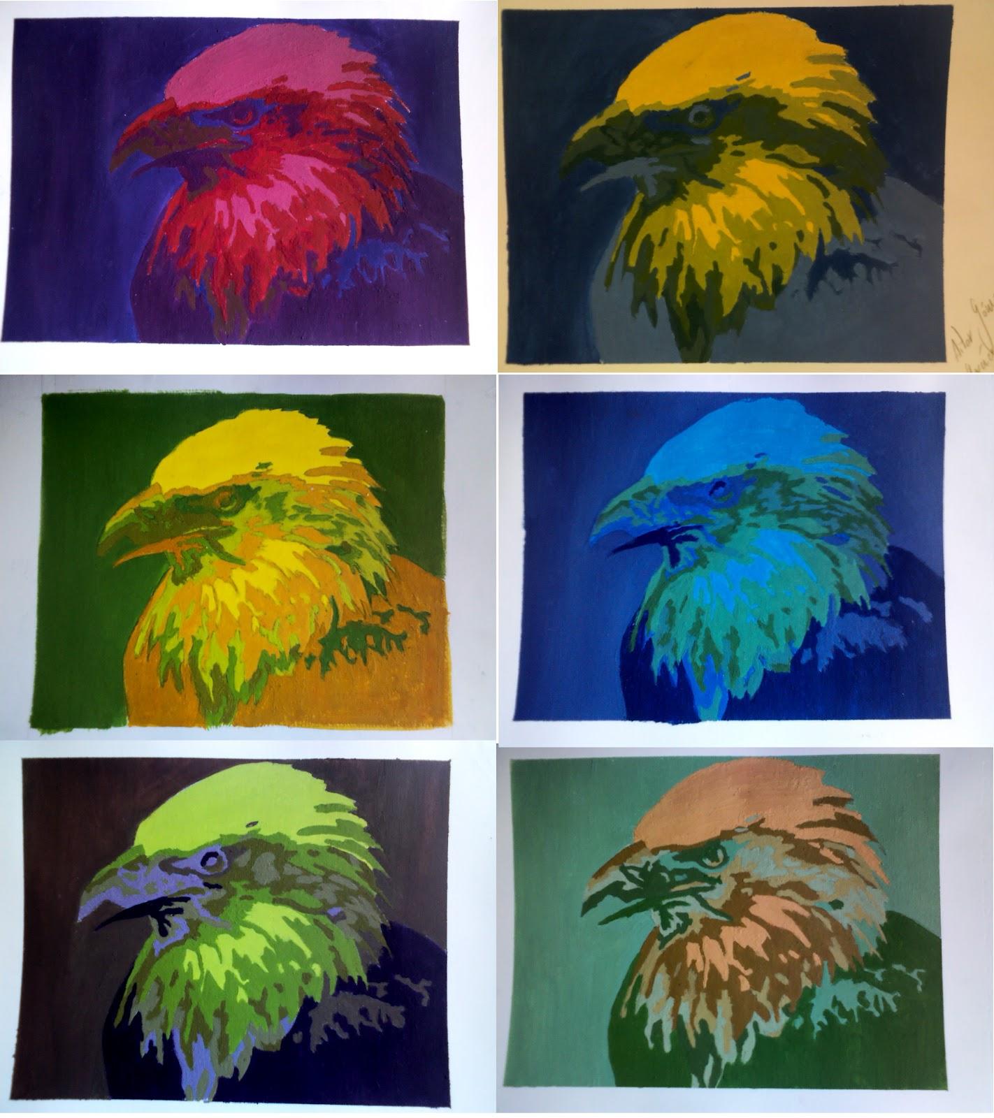 Fundamentos de pintura ejercicio composiciones crom ticas for Pintura clorocaucho colores