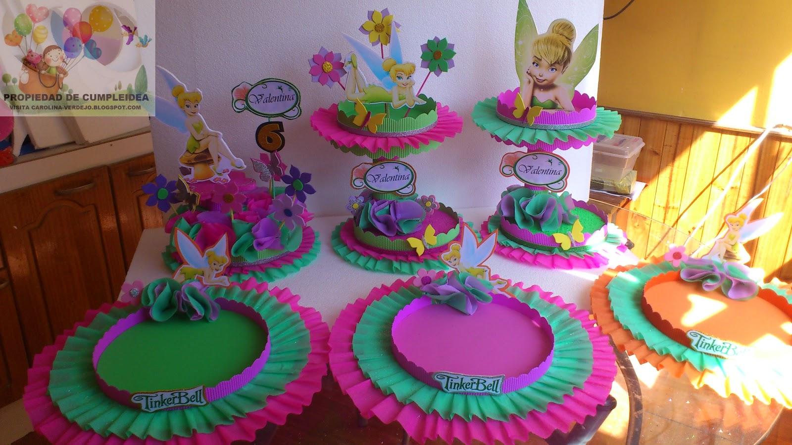 Decoraciones infantiles tinkerbell for Manualidades decoracion infantil