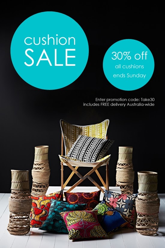 Safari Fusion blog >> Cushion SALE | 30% off all Cushions with FREE delivery until Sunday