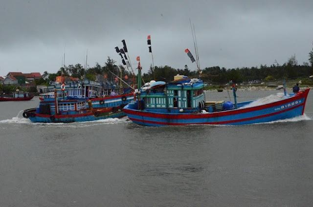 Bão Melor Nhiều tàu cá Quảng Ngãi đang hoạt động ở Trường Sa