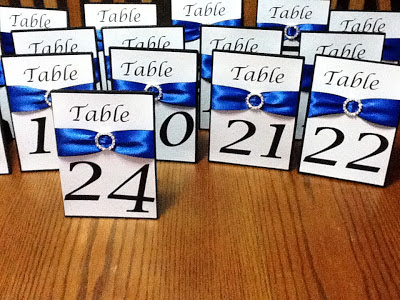 royal blue table numbers