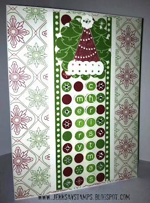 Handmade Christmas Card - www.jennsavstamps.blogspot.com