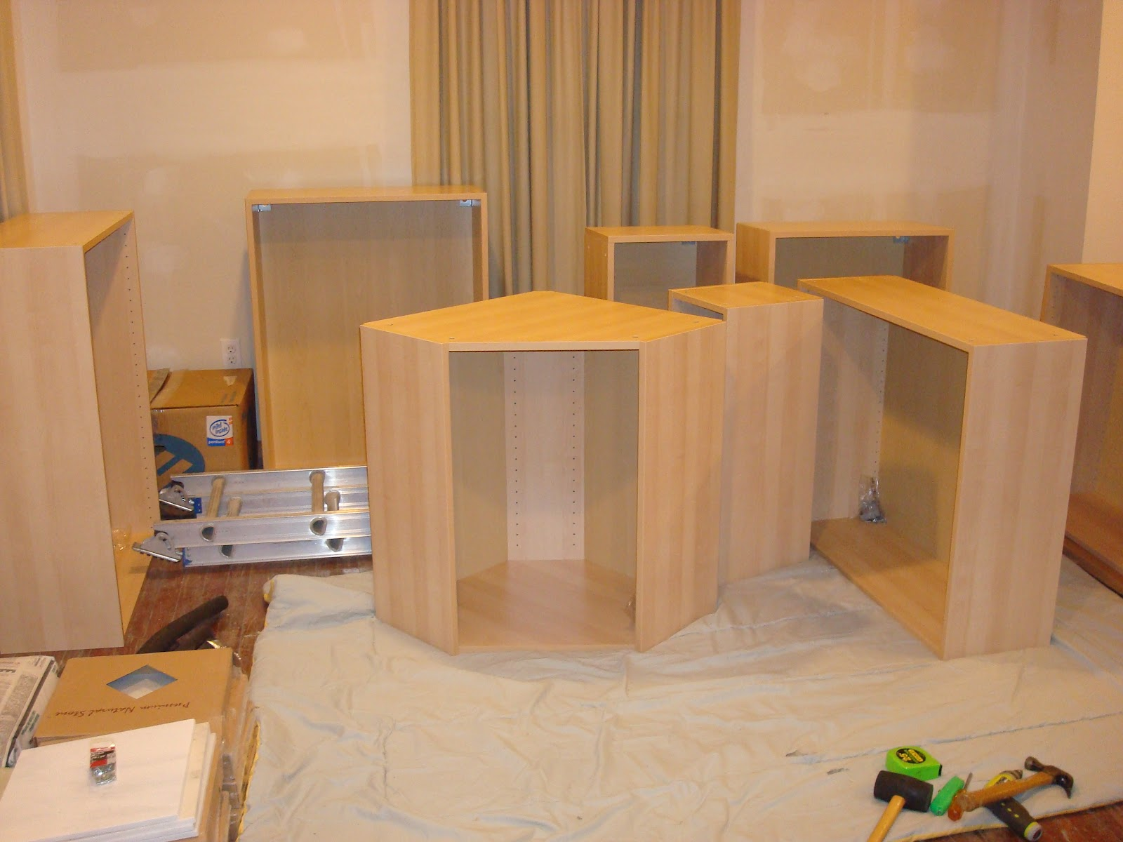 Make island from ikea cabinets for Build kitchen island with cabinets