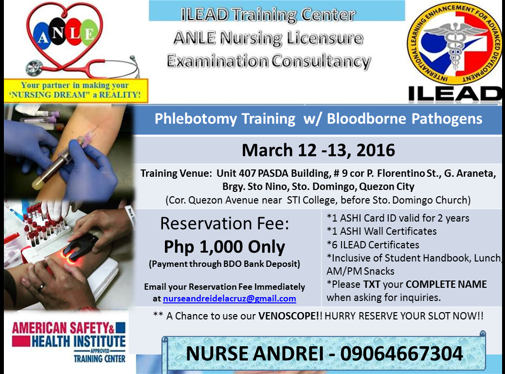 Its rndrei bls acls ecg training quezon city phlebotomy training reservation fee 1000 until march 10 2016 only 1betcityfo Images
