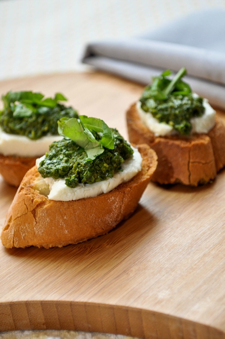 Pesto Cheese Crostini Recipes — Dishmaps