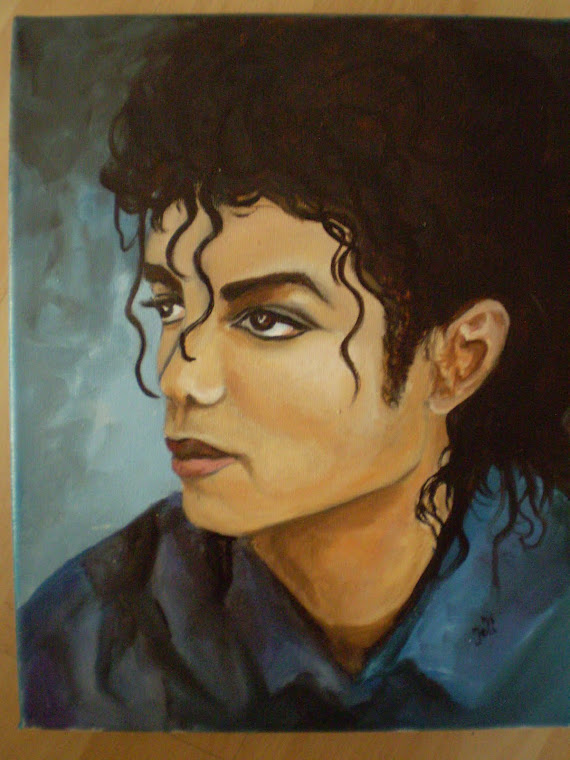 Michael Jackson, 1987, oil on canvas, signed joli, 9,5/12in