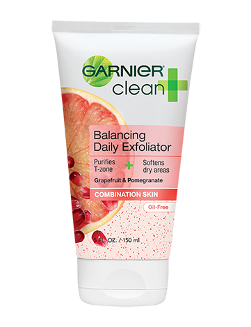 Garnier Clean + Balancing Daily Exfoliator for Combination Skin skincare review PINCHme product beauty ingredients