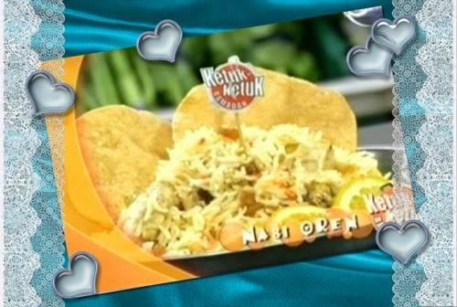 Ketuk-ketuk Ramadan 2014 bersama Arja Lee - Sambal ikan bilis ubi kentang tempe, Nasi Oren