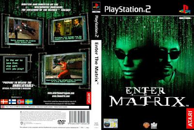 Jogo Enter Matrix PS2 DVD Capa