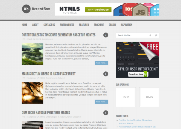 Css3 Html5 Templates. html5xcss3 free responsive html5 and css3 ...