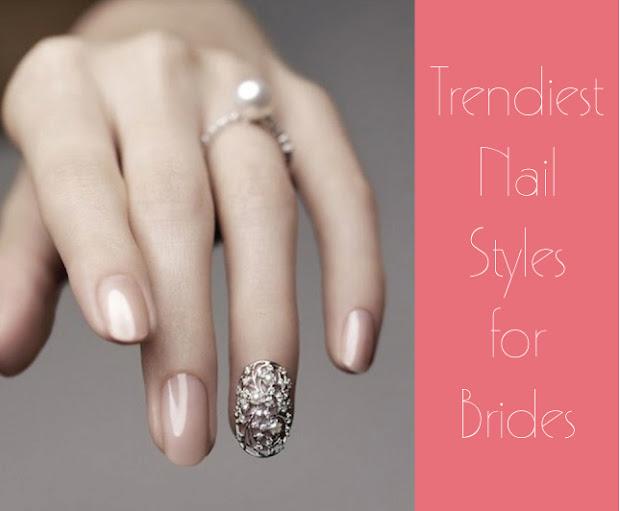 trendy nail styles brides