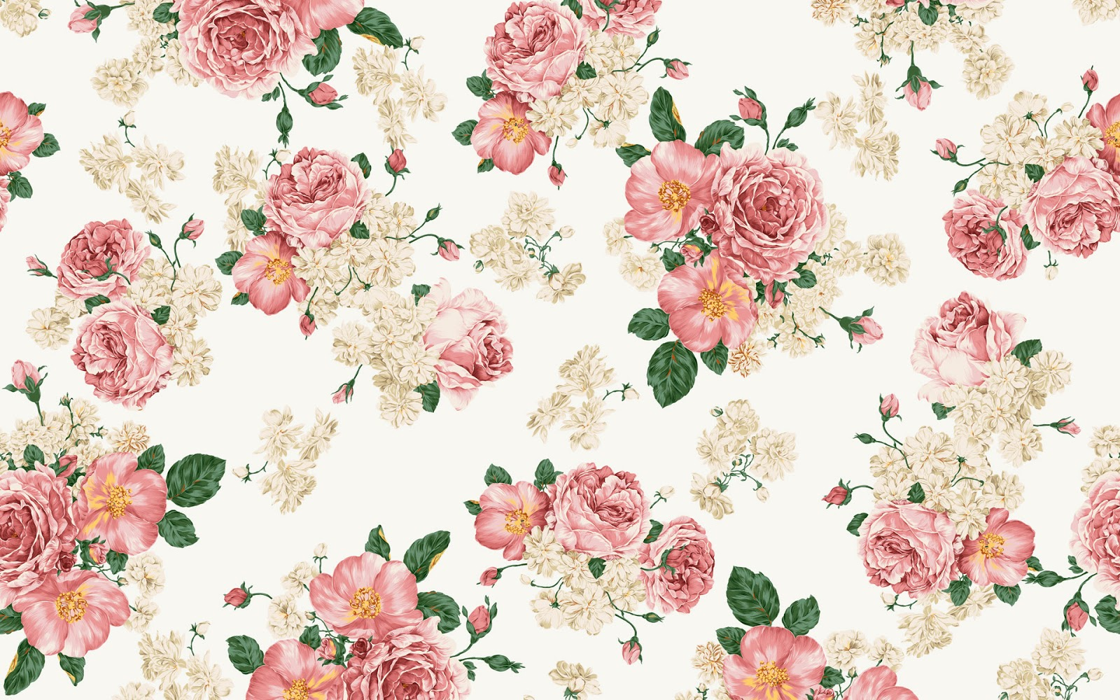 vintage floral wallpaper pattern 2017 - Grasscloth Wallpaper