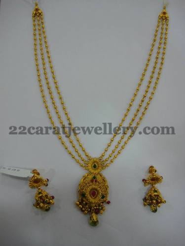 lockets design laxmi south mala small contain lakshmi locket again indian this gundla hanging gold bottom devi with culture balls center and a big