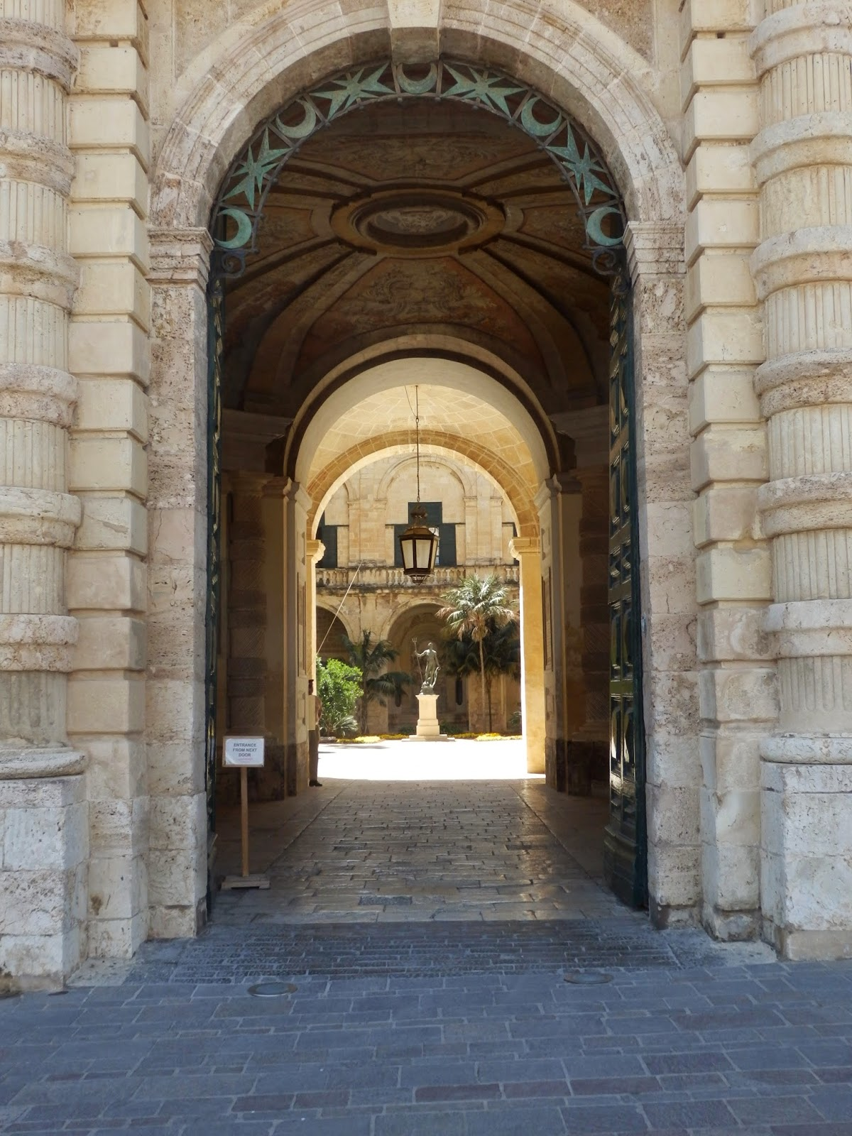 Archway to the Palace in Valletta