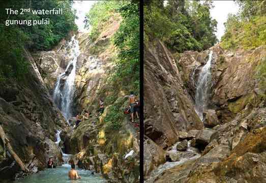 Mount Pulai second waterfalls