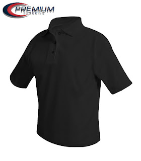 Boys Black Pique polo shirt