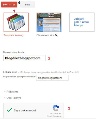 Menyimpan file di google sites