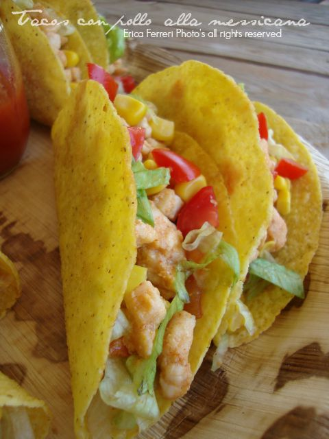 Tacos messicani con pollo