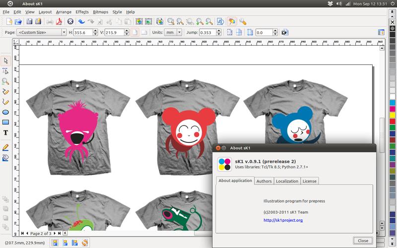 sK1: Edit file CorelDRAW & Adobe Ilustrator di Ubuntu