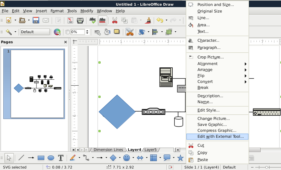 Quick Fix Libreoffice Draw With Dia Diagrams Unsolicited But Offered