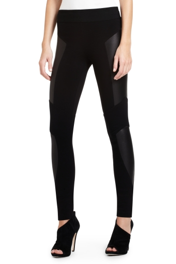 BCBG Faux Leather Leggings