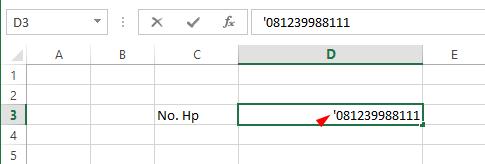 Cara Menulis Angka 0 di Depan Pada Microsoft Office Excel 3
