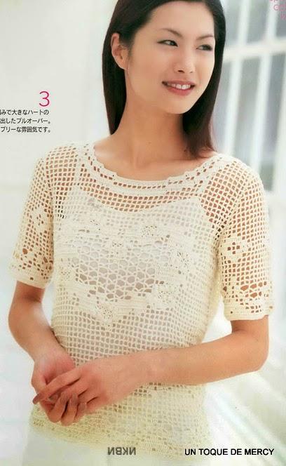 blusas con crochet sukarame