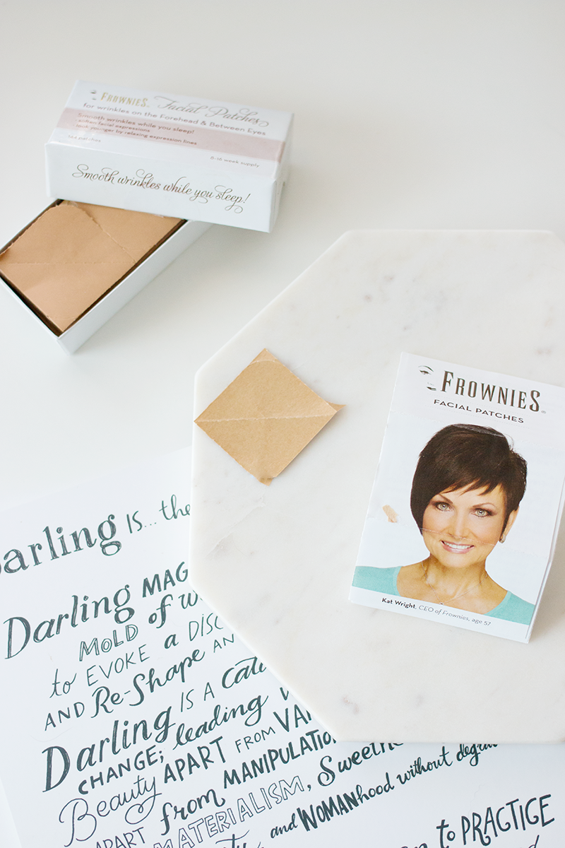 Anti-aging with Frownies Facial Patches