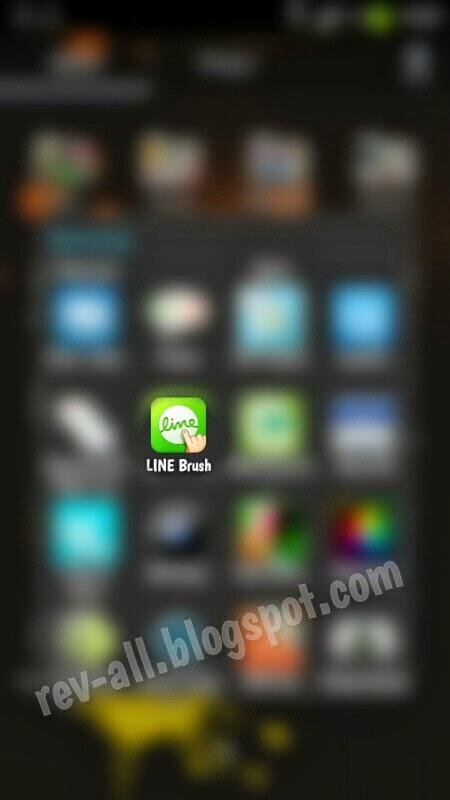 Ikon - Line Brush aplikasi android sejenis paint untuk mencoret-coret di perangkat android (rev-all.blogspot.com)