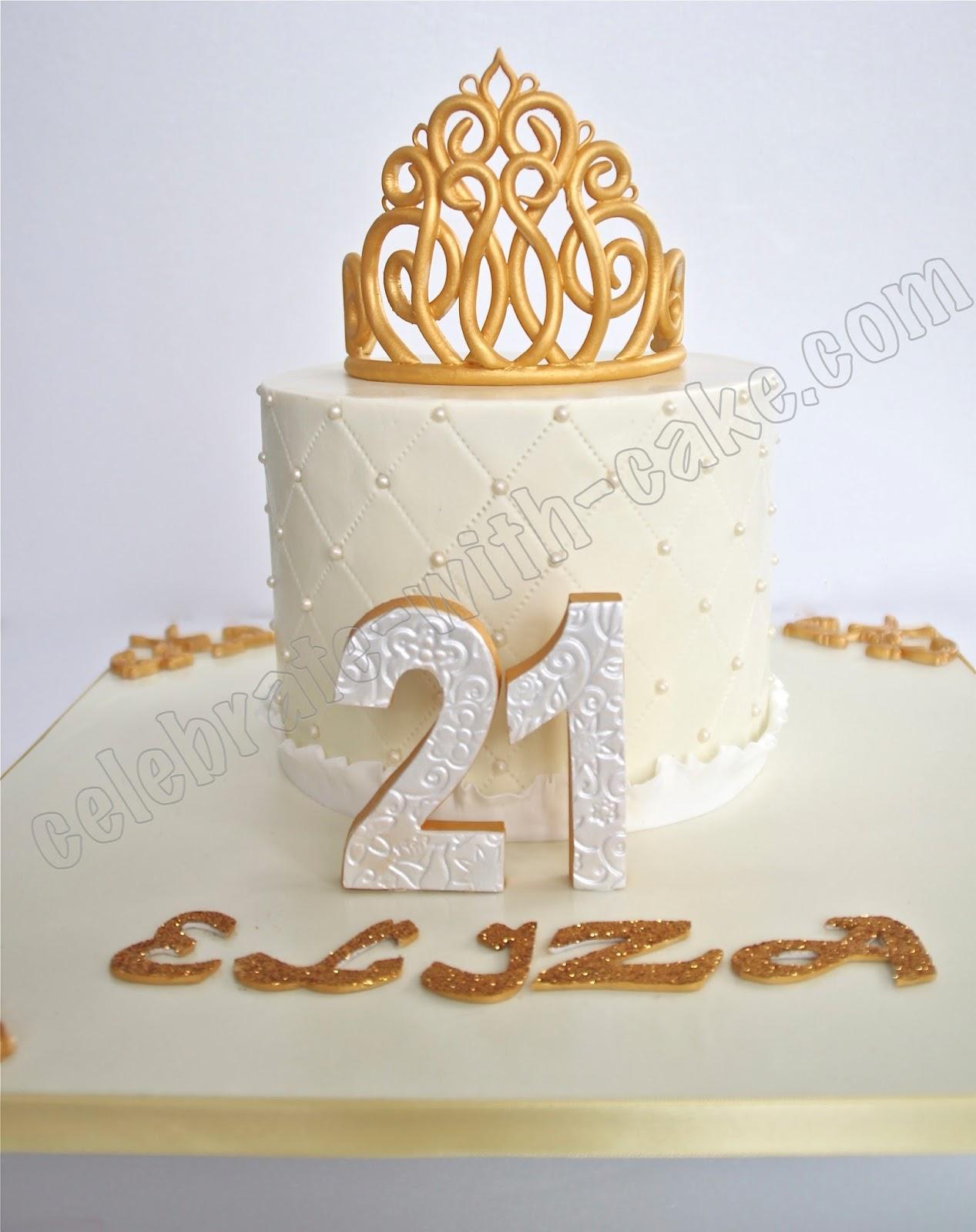 Celebrate With Cake 21st Birthday Princess Tiara Cake