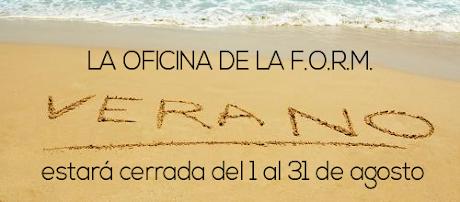 CIERRE DE LA OFICINA F.O.R.M. POR VACACIONES