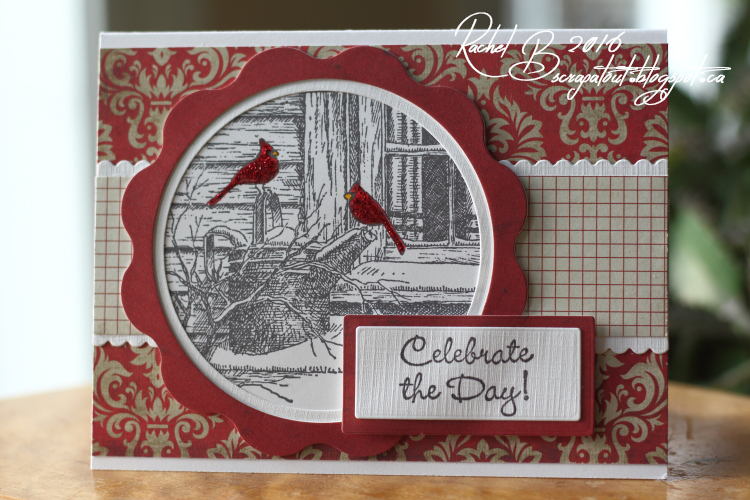 Scrapatout - Handmade card, Impression Obsession, Celebrate, Winter, Birds