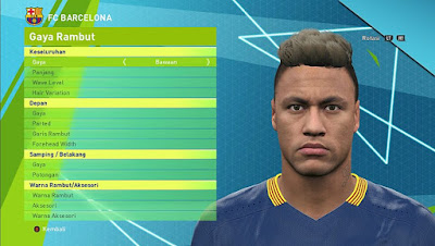 PES 2016 Neymar Jr Face V2 by Lord Yyud