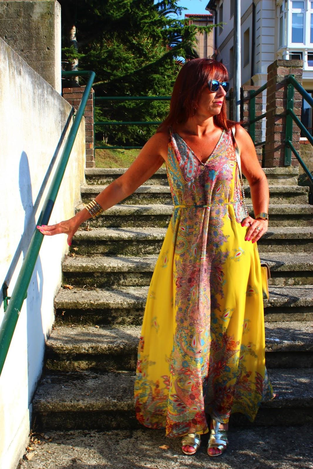 Br jula de estilo mis looks vestido largo estampado - Brujula de estilo ...