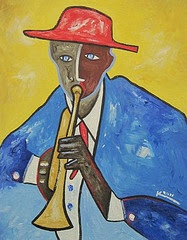 Red Hat &amp; Trumpet (Sold)