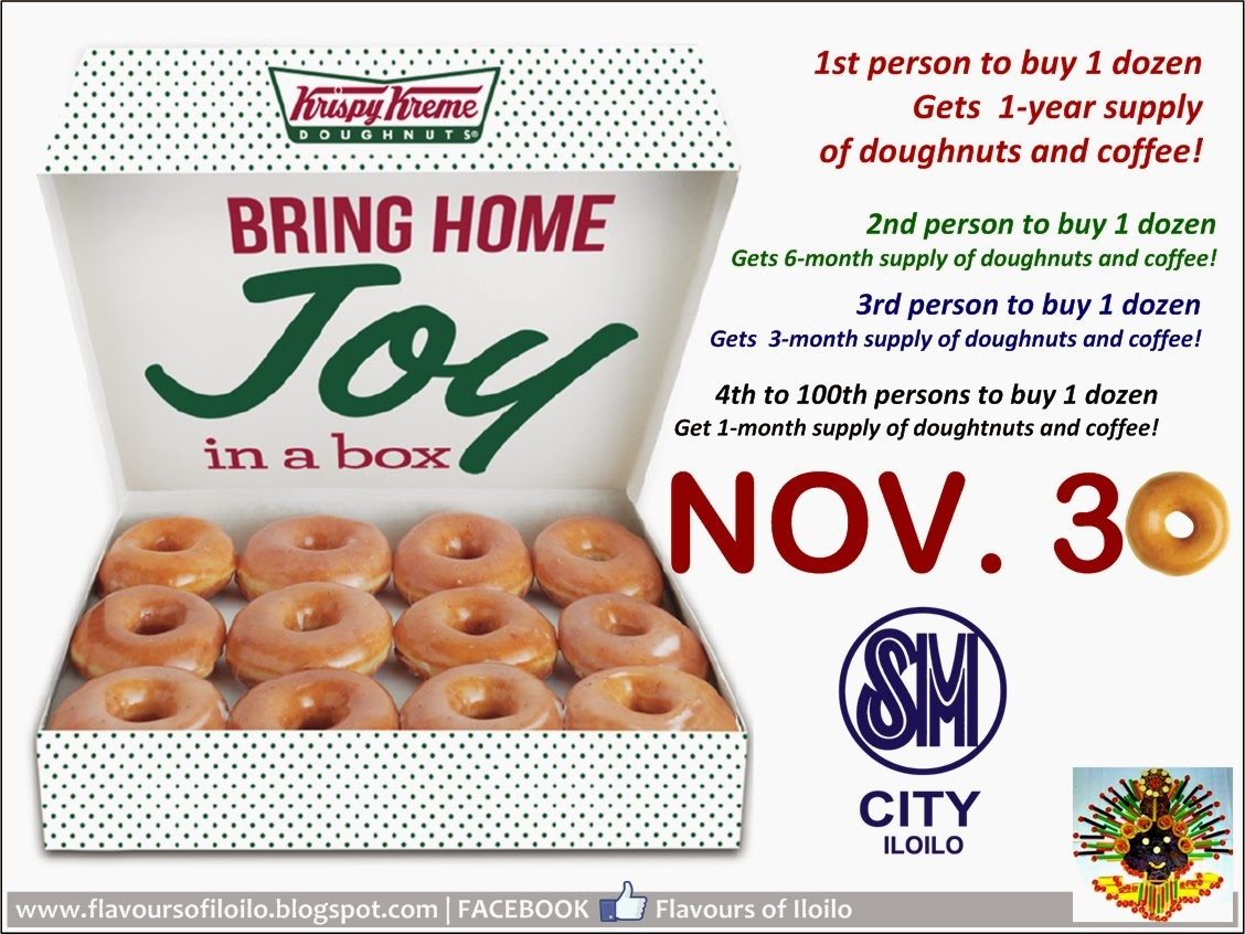It\'s OFFICIAL: Krispy Kreme to open on Nov. 30 at SM City Iloilo ...