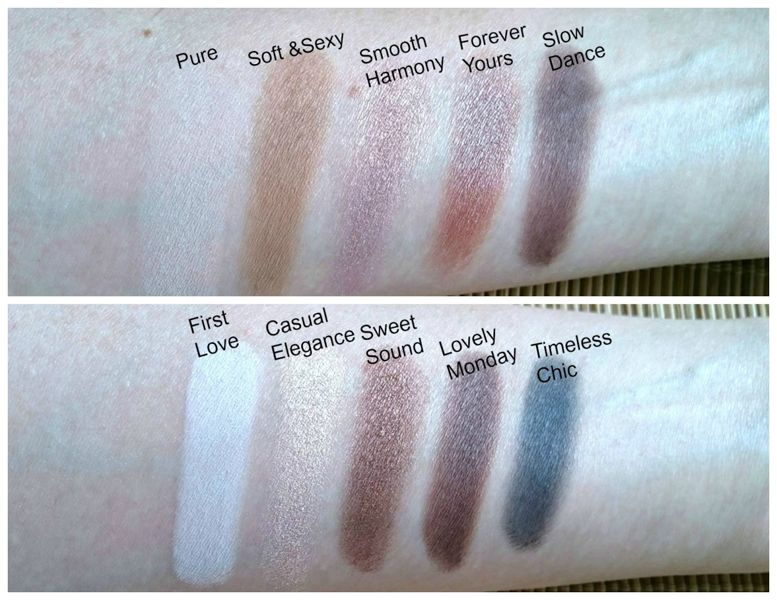 Zoeva Naturally Yours palette swatches