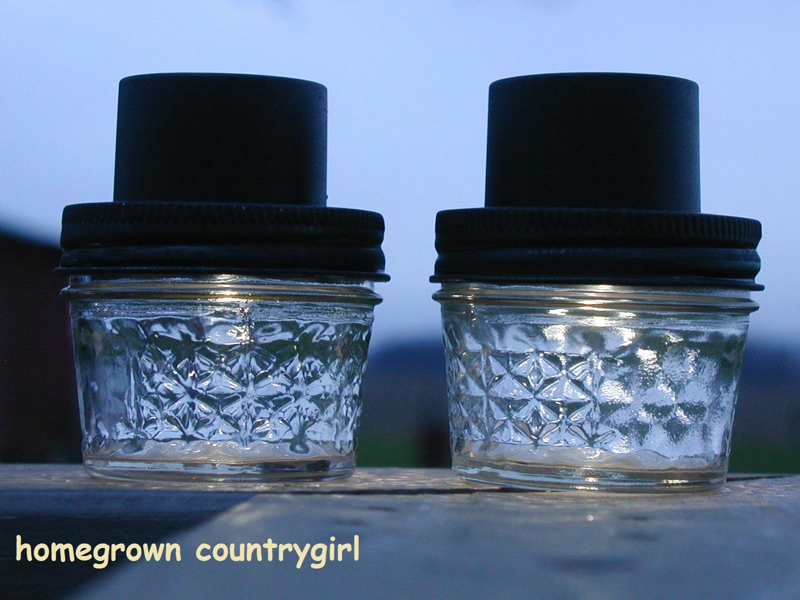 Homemade Solar Lights Homegrown Countrygirl Jam Jar Solar Lights