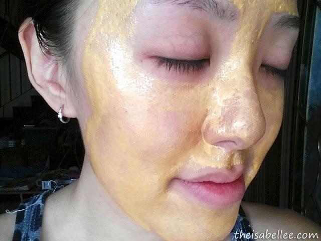 Using Piolang 24K Gold Wrapping Mask