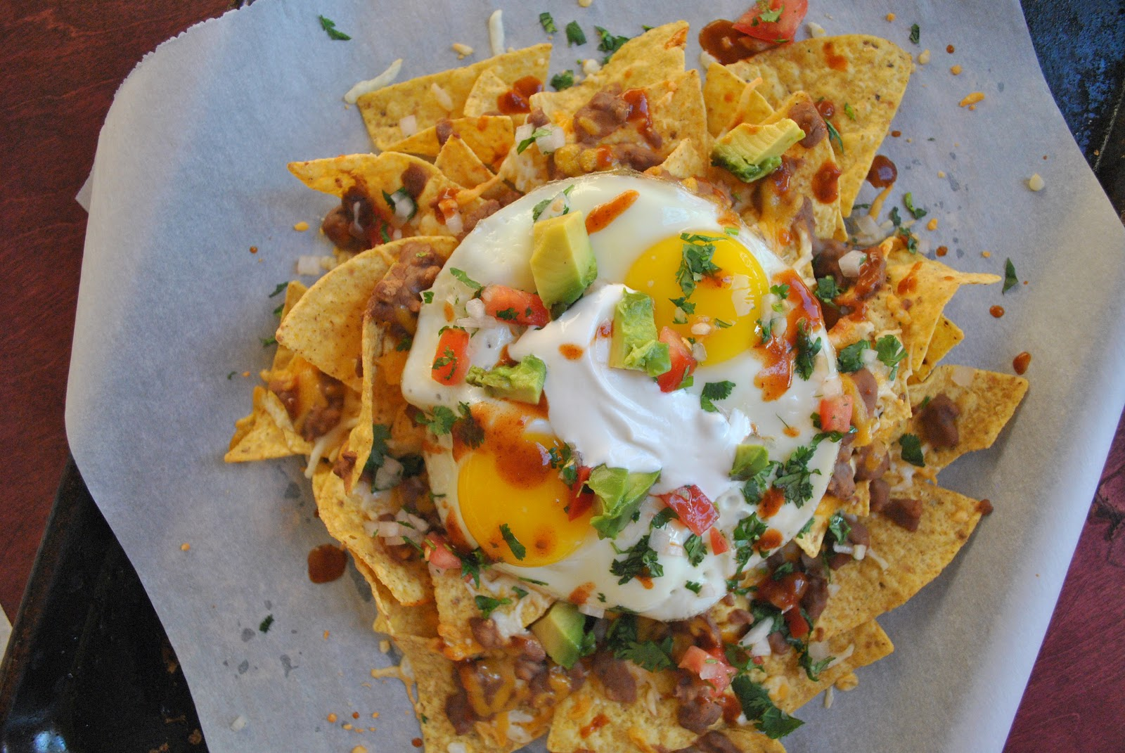 loaded breakfast nachos..