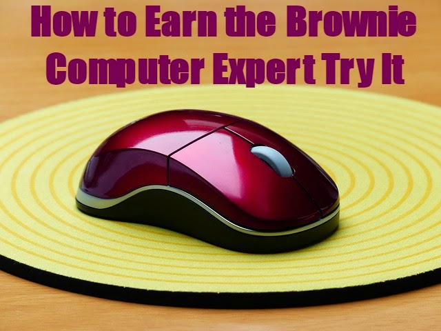 how to earn the Brownie Computer Expert Try it
