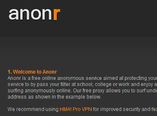Anonr Homepage