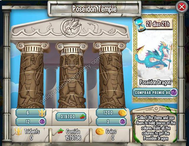 imagen de las tareas y objetos magicos de la isla olympus de dragon city