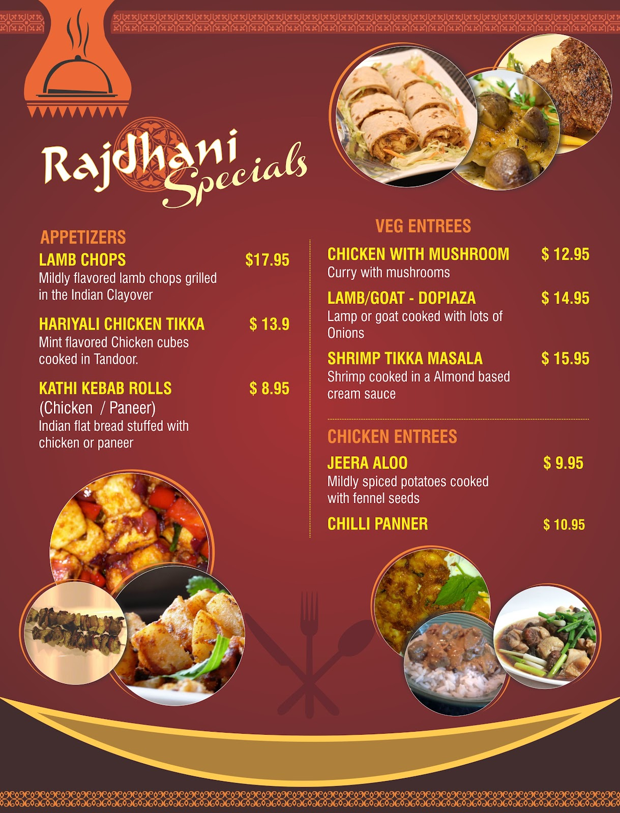 PRASANTH KUMAR: RESTAURANT MENU CARDS