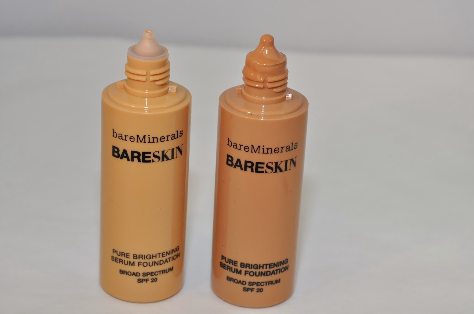 bareMinerals BareSkin Pure Brightening Serum Foundation in Bare Nude, Bare Latte