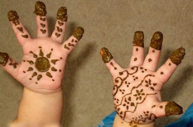 Mehandi Designs for Small Kids