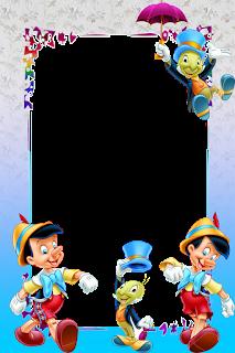 Caratula para cuadernos de niños - Pinocho y grillo