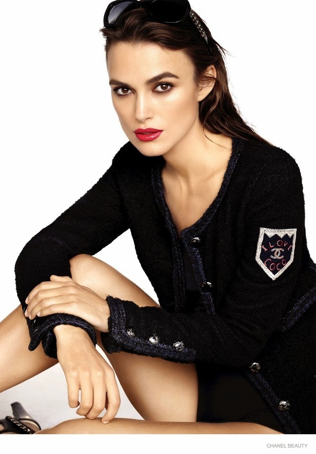 Keira Knightley poses for the Chanel Coco Rouge Lipstick Campaign 2015
